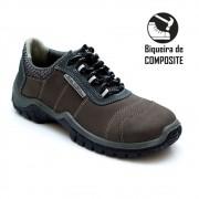 Sapato Segurança Nocubk Grafite/Azuro Estival En10043S1 Bico Composite CA 42553