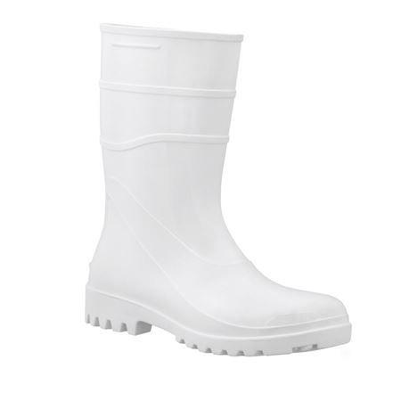 Bota Acqua Flex Bracol Branca Impermeável Cano Curto CA 37456