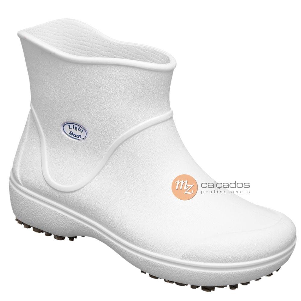 Bota Eva Branco BB85 Light Boot Antiderrapante Soft Works com CA 37390