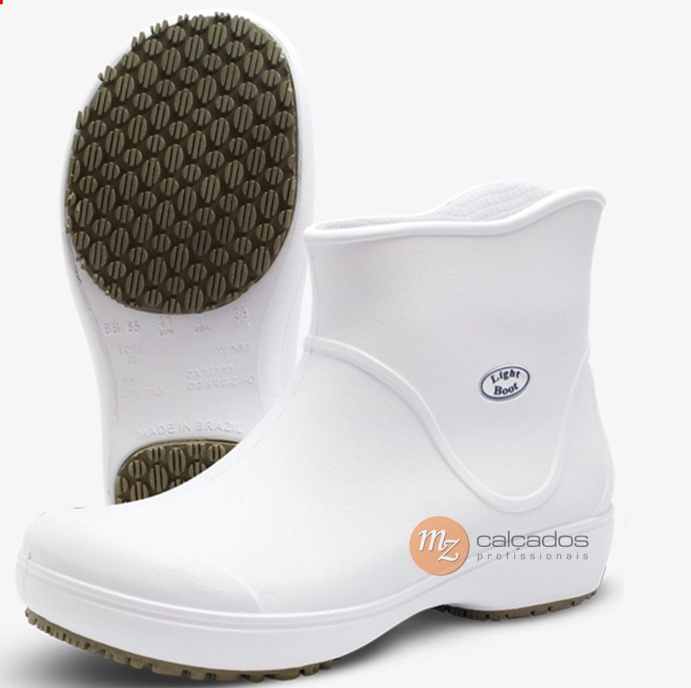 Bota Eva Branco BB85 Light Boot Antiderrapante Soft Works com CA 37.390