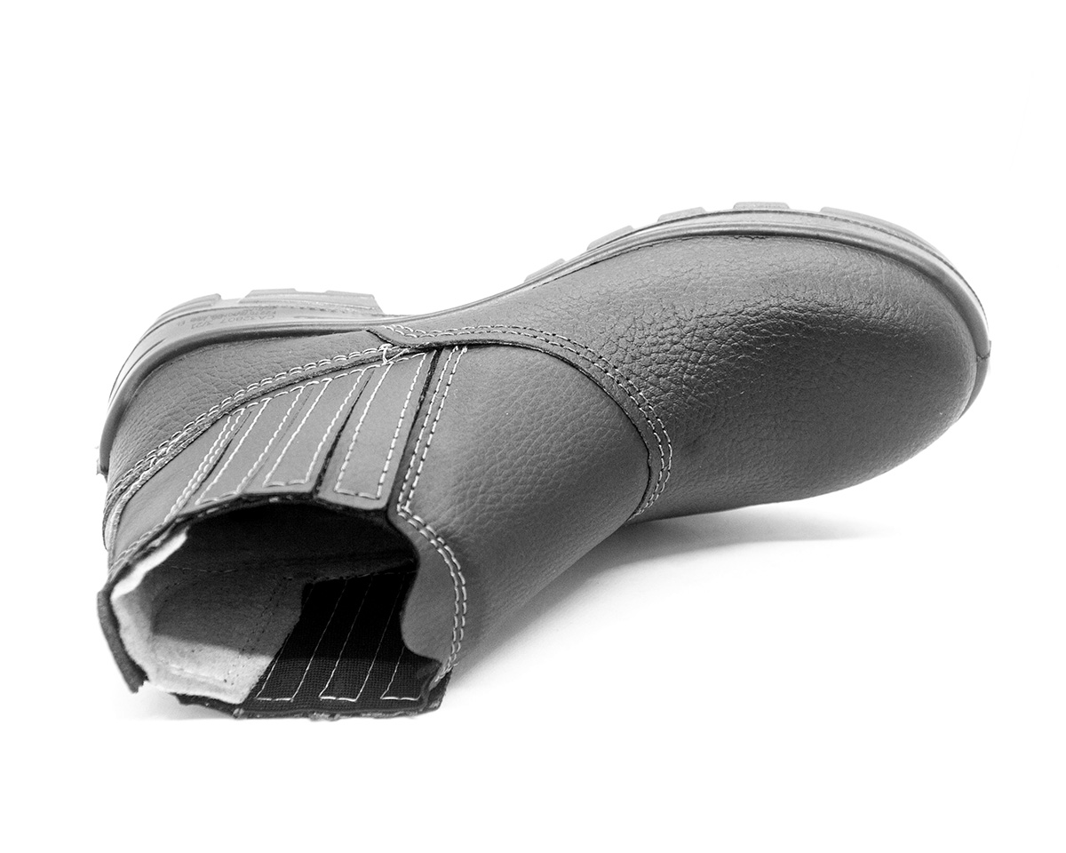 Botina de Segurança Bidensidade Elastico Bico de PVC Fujiwara 4098USES4600US Usafe CA 32807 + Palminha Anatômica