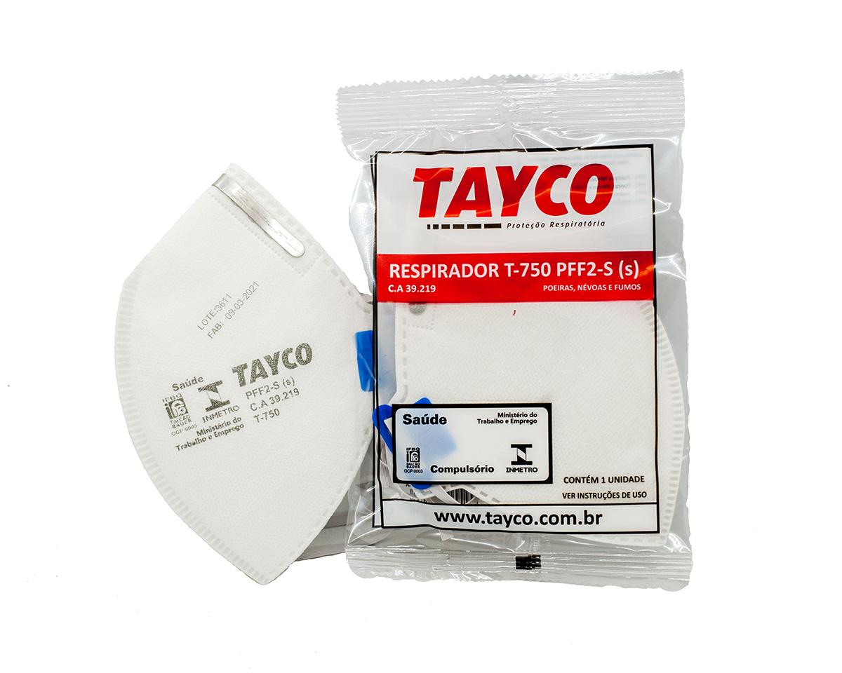 KIT 100 Mascaras  Respiratória PFF2-S  T-750 Tayco CA 39219
