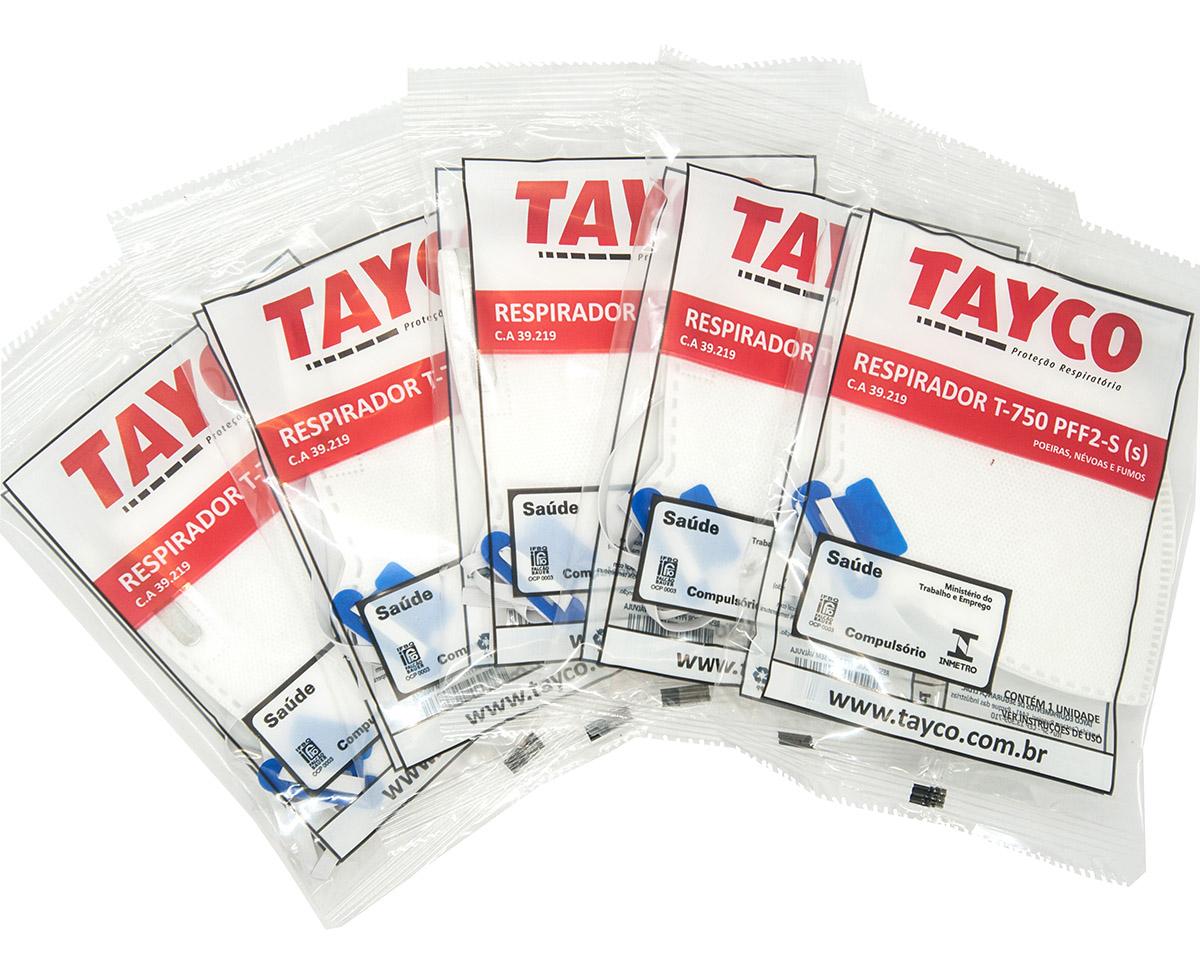 KIT 30 Mascaras  Respiratória PFF2-S  T-750 Tayco CA 39219