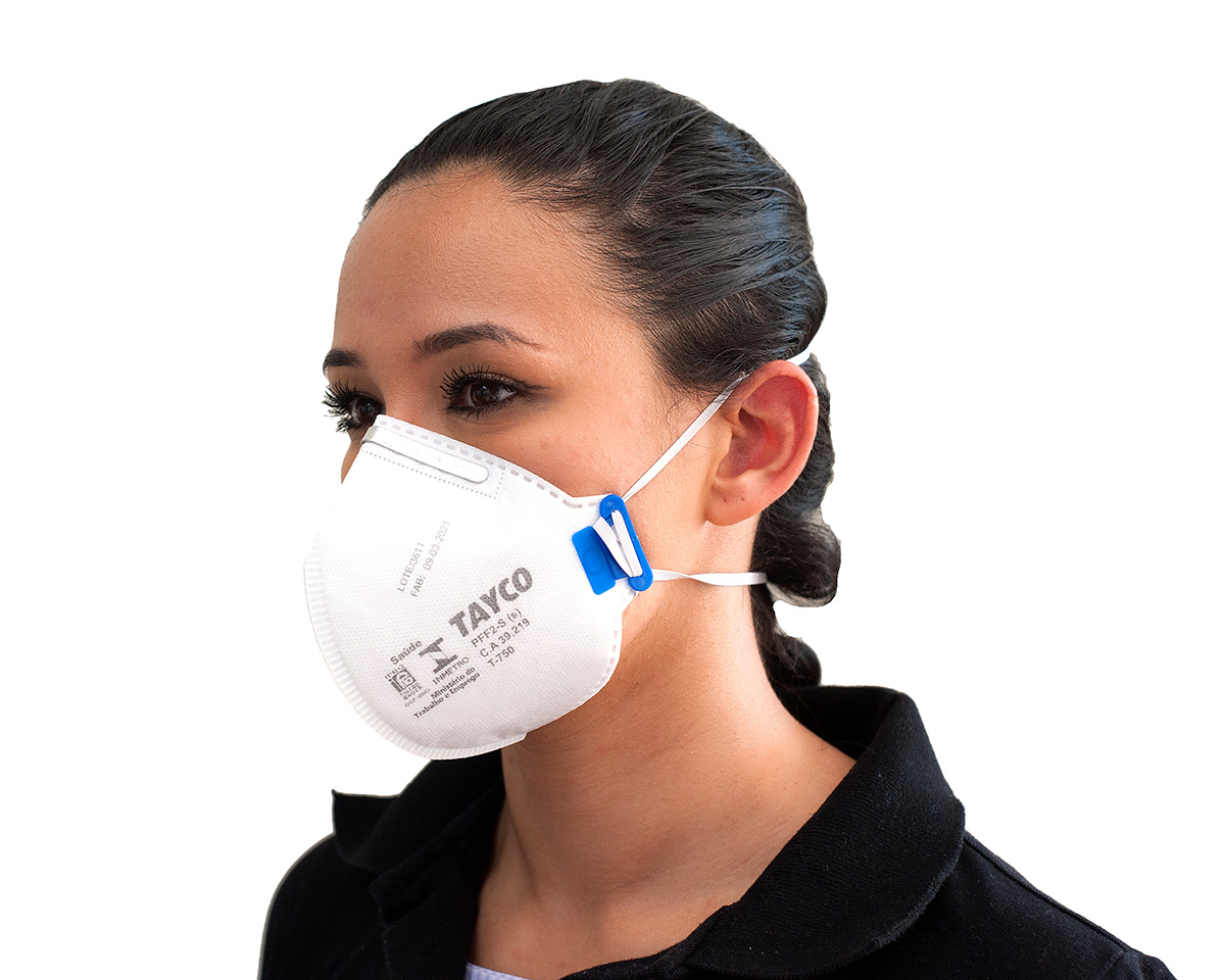 KIT 5 Mascaras  Respiratória PFF2-S  T-750 Tayco CA 39219