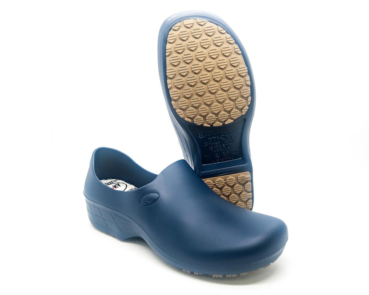 Sapato Antiderrapante Sticky Shoes Azul Marinho + Caixa Mascara Protdesc