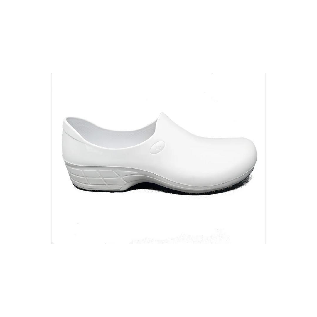 Sapato Antiderrapante Sticky Shoes Branco + Caixa Mascara Protdesc