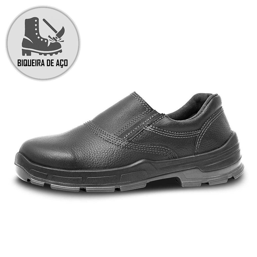 Sapato Segurança Couro Preto Bracol 2020BSES2400LL Biqueira Aço CA 26423