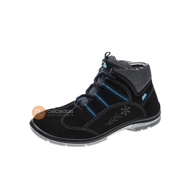 Sapato Segurança Feminino Nobuck Preto Marluvas 50F62 CNPA CA 32816