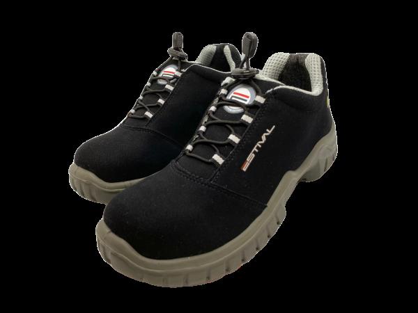 Sapato de Segurança Microfibra Preto Antiestático Bico Composite Estival EN10023S2A CA 40992