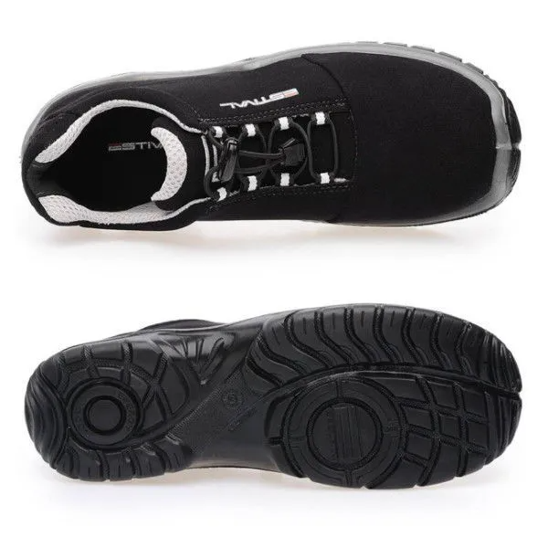 Sapato de Segurança Microfibra Preto/Cinza Estival EN10023S2 CA 42554