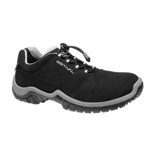 Sapato de Segurança Microfibra Preto Estival EN10021S2 CA 28140