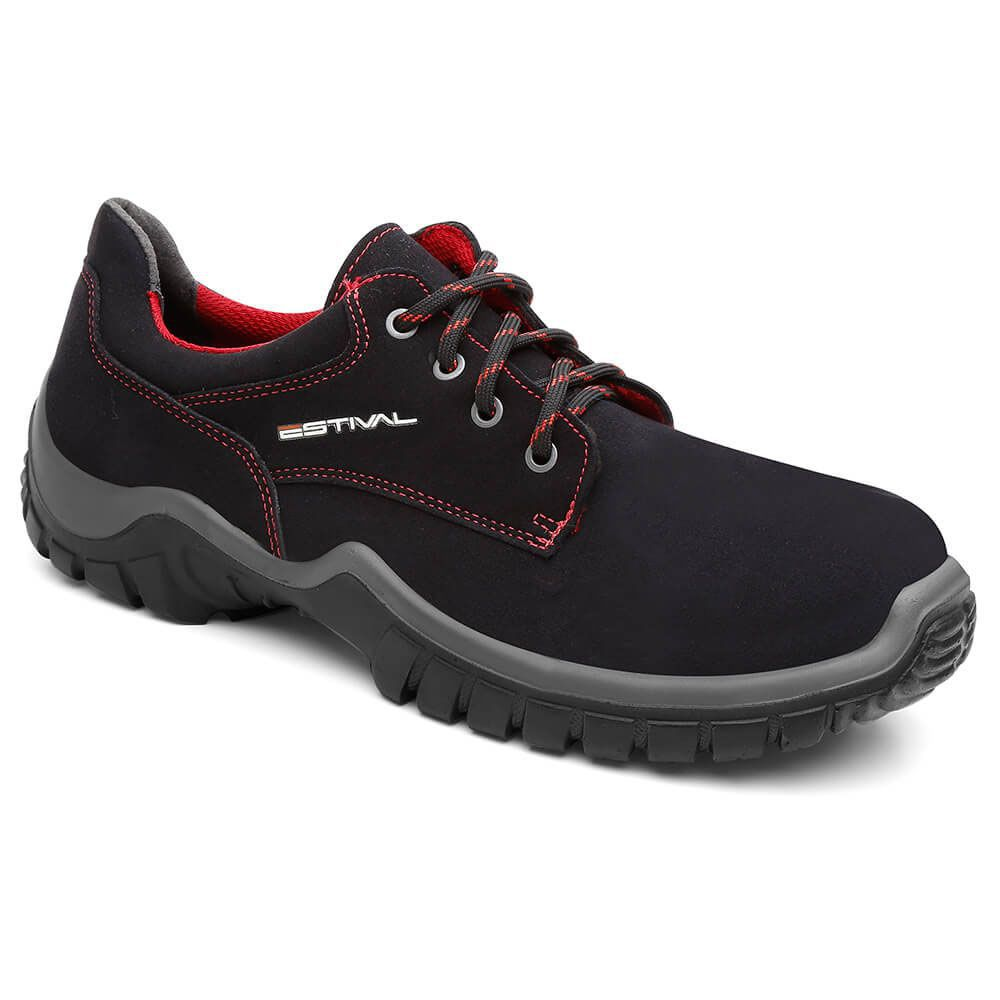 Sapato Segurança Microfibra Preto/Rima Estival WO10041 CA 28140