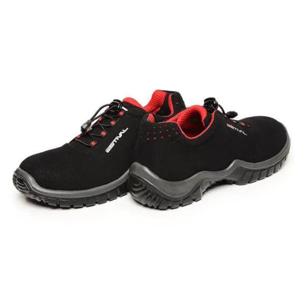 Sapato de Segurança Microfibra Preto/Vermelho Estival EN10023S2 CA 42554