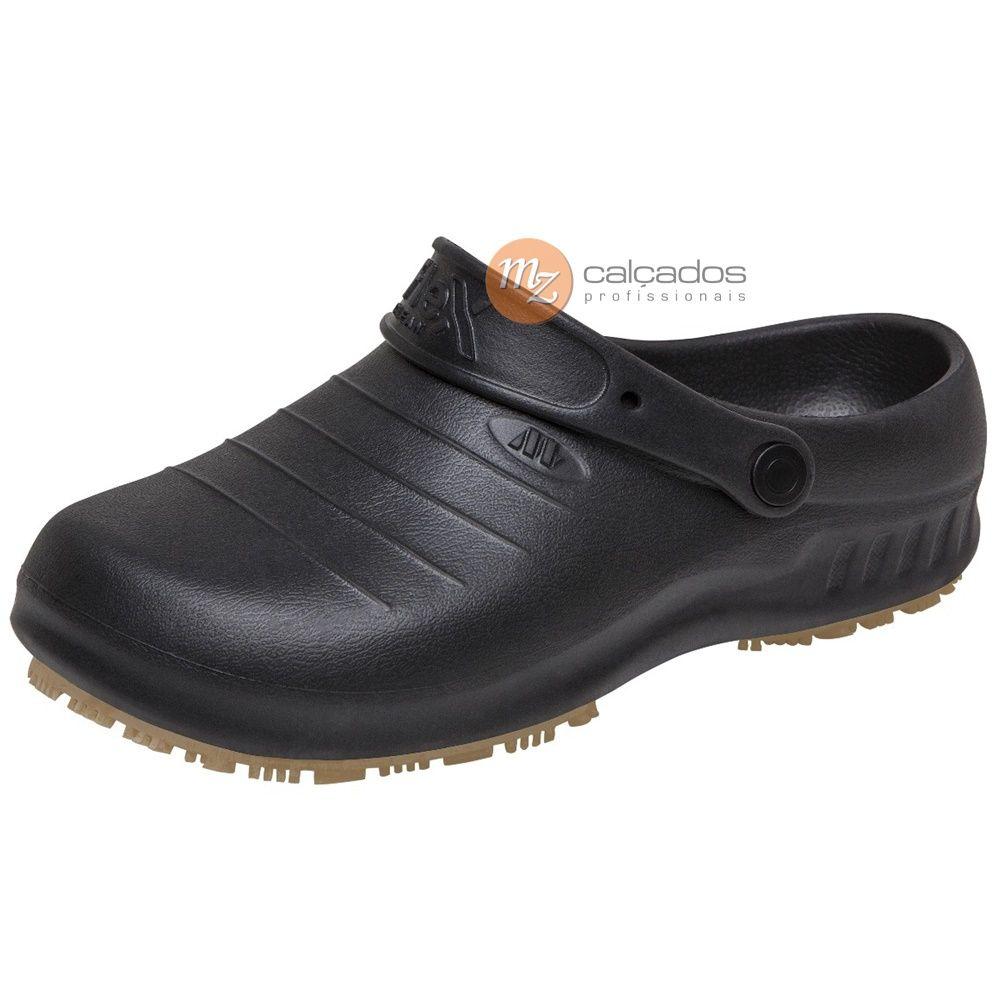 Sapato Preto Antiderrapante Flex Clean Marluvas 102FClean CA 39.835
