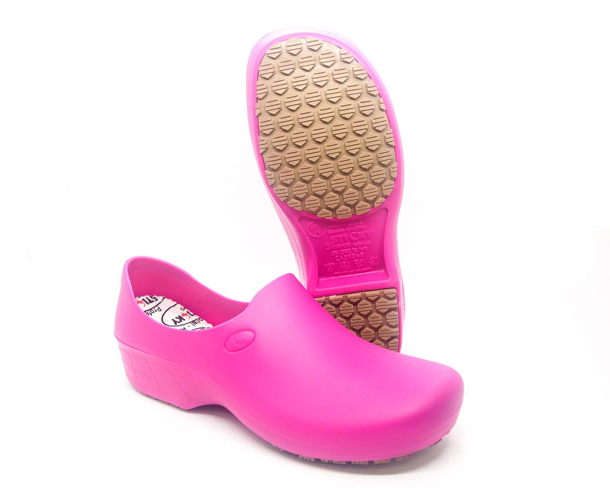 Sapato Segurança Antiderrapante Enfermagem  Cozinha Hotelaria Sticky Shoe WOMAN Canada EPI CA 39848