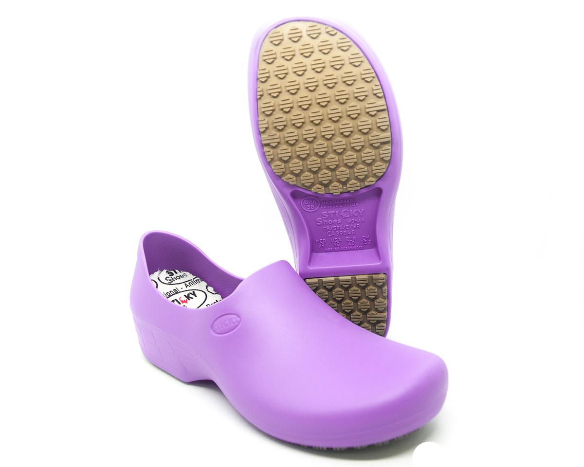 Sapato Segurança Antiderrapante Sticky Shoe WOMAN Lilás CA 39848