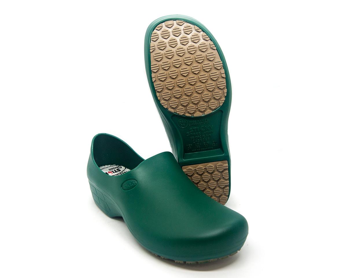 Sapato Segurança Antiderrapante Sticky Shoe WOMAN  Verde Amazônia CA 39848