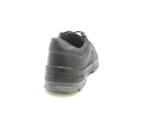 Sapato Segurança Cadarço Couro Preto Bracol 4045BSAS4400LL Biqueira Plástica CA 26719 + Palmilha Ergonômica