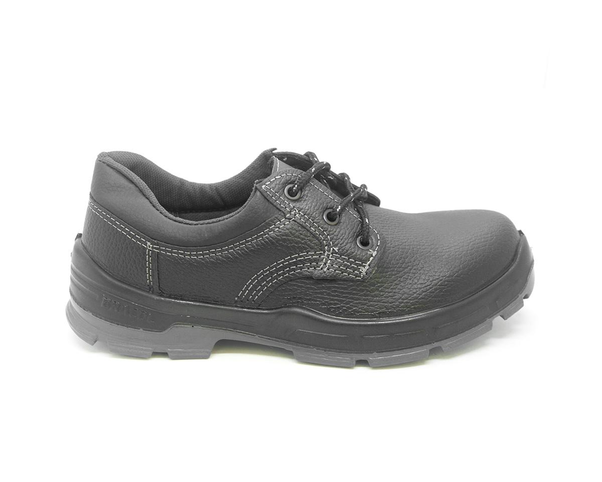 Sapato Segurança Couro Preto Bracol 4045BSAS4400LL Biqueira Plástica CA 26719