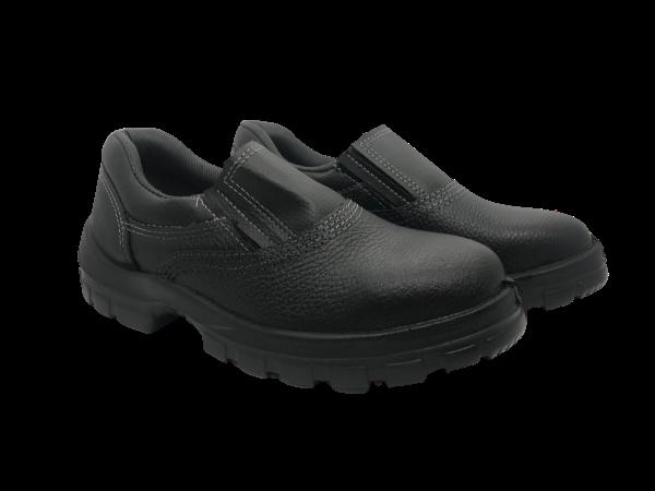 Sapato Segurança Couro Preto Elástico Monodensidade Bracol Bico PVC  2020BSES4600LL CA 43443