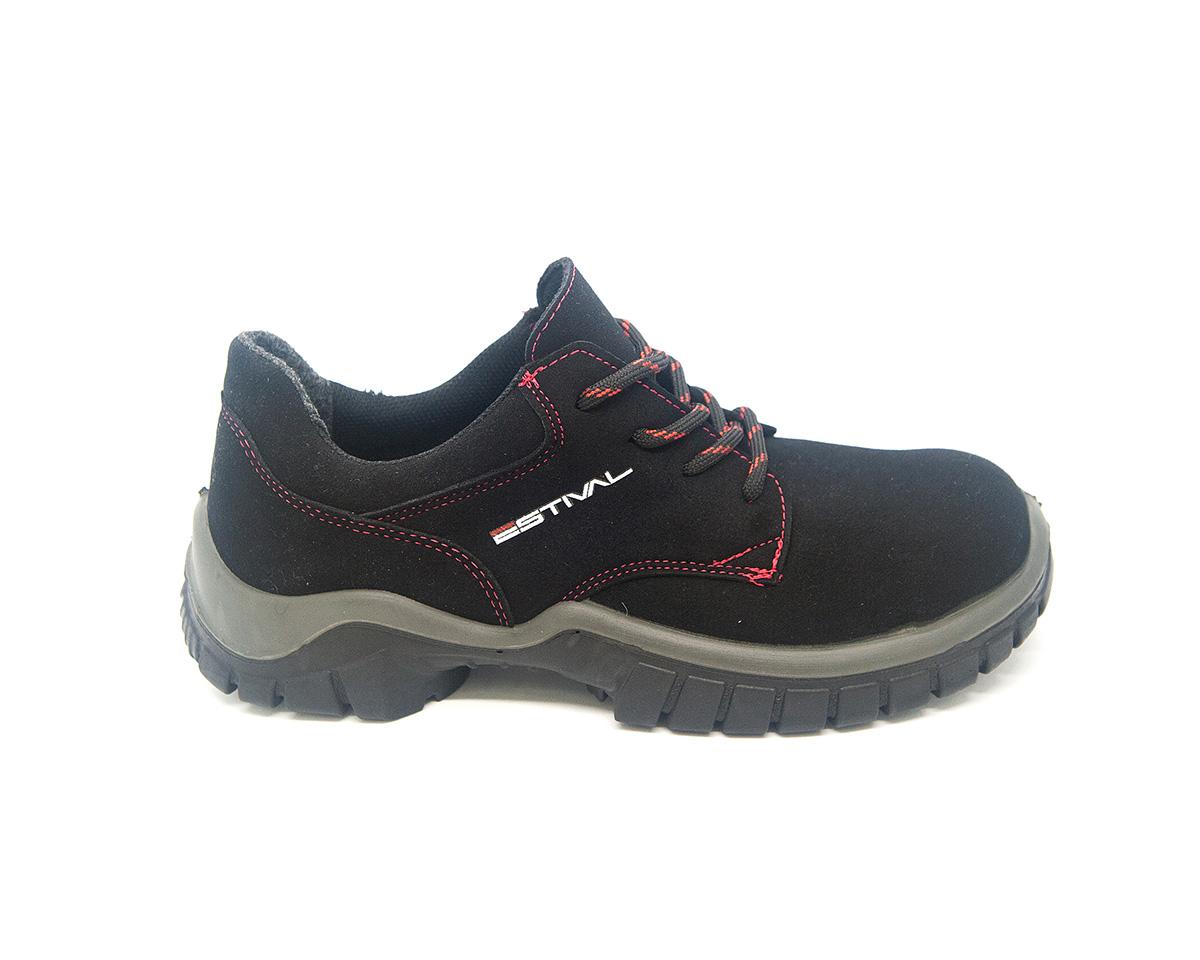 Sapato Segurança Microfibra Preto/Rima Estival WO10041S2 CA 44592
