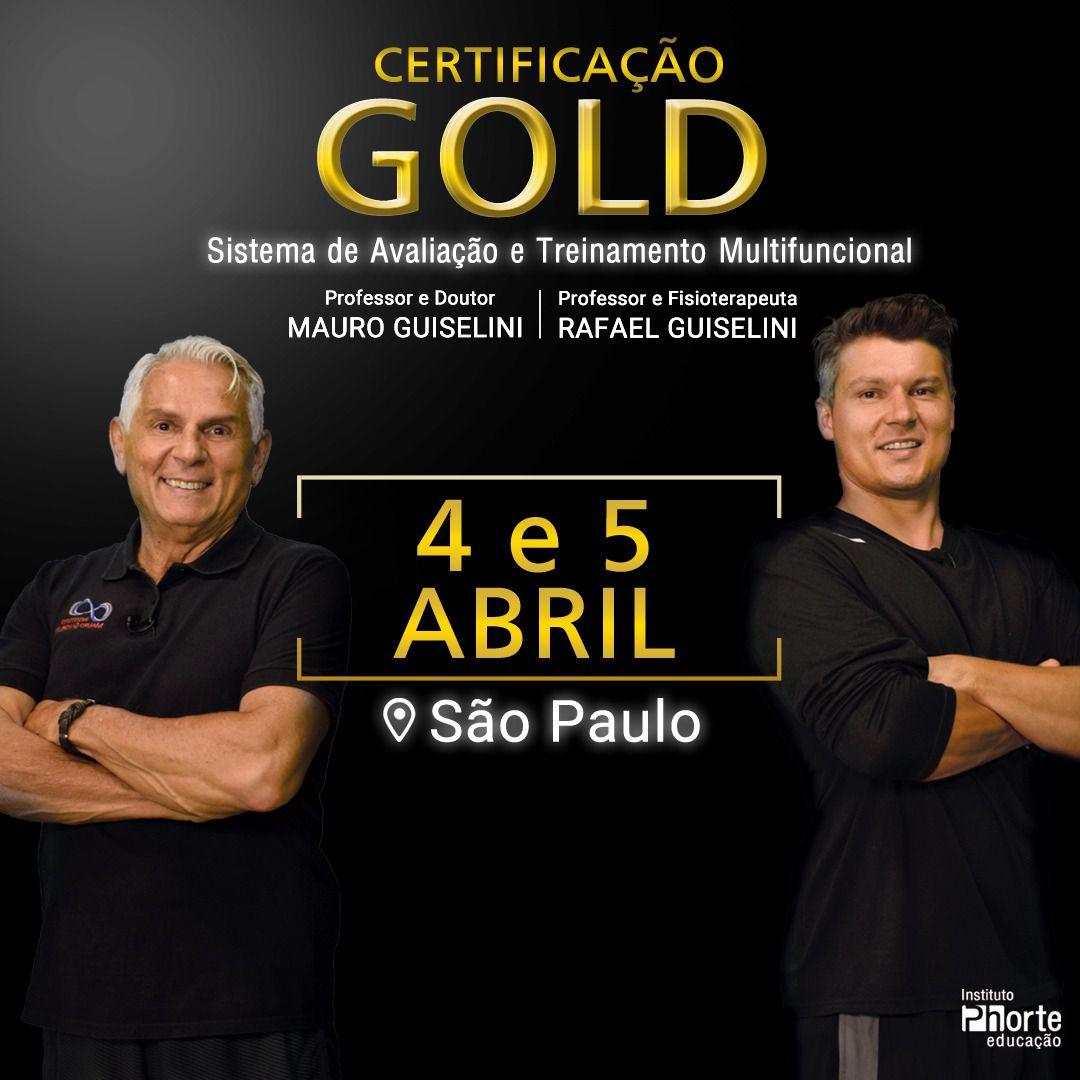 Certificação Gold - Sistema de Avaliação e Treinamento Multifuncional (Mauro Guiselini e Rafael Guiselini)  - Cursos distância e aulas online Instituto Phorte Educação.