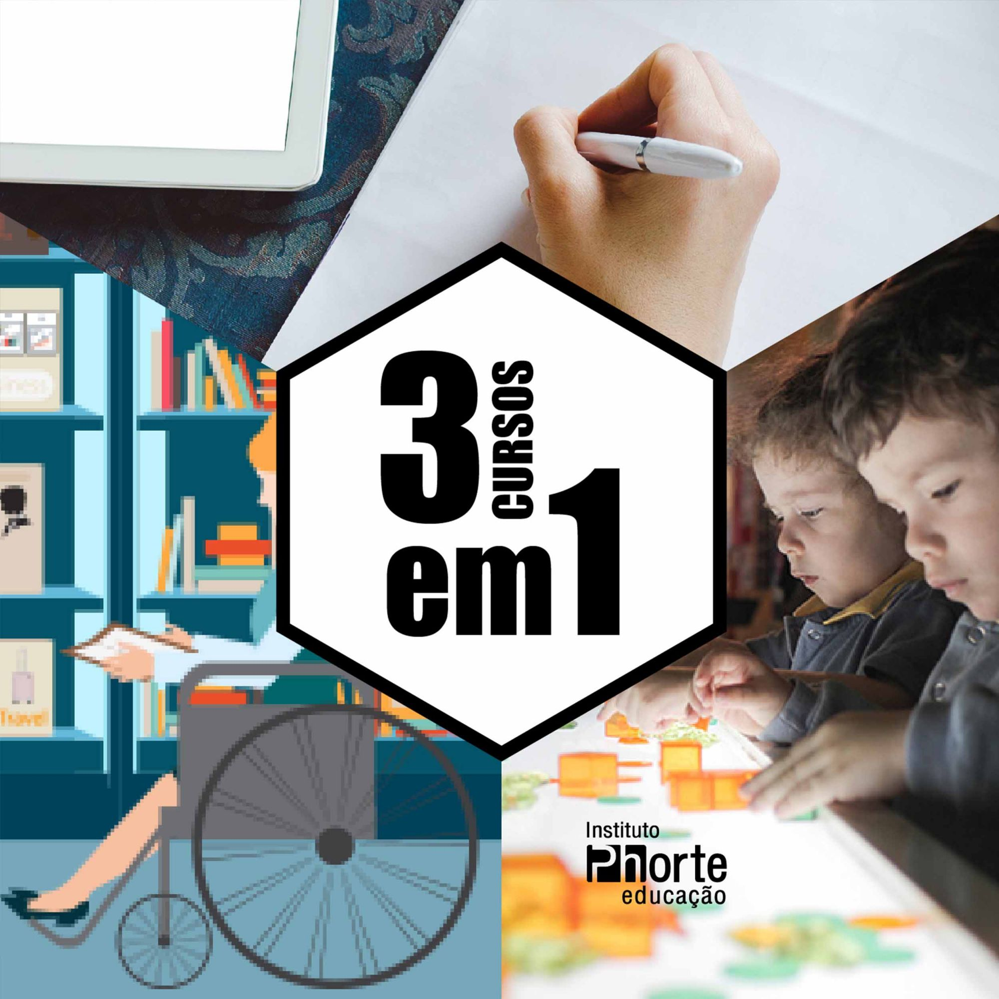 Combo Educação 2  - Cursos distância e aulas online Instituto Phorte Educação.