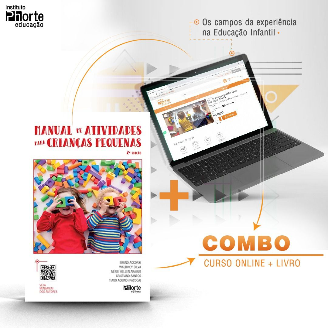 Combo Educação Infantil 5  - Cursos distância e aulas online Instituto Phorte Educação.