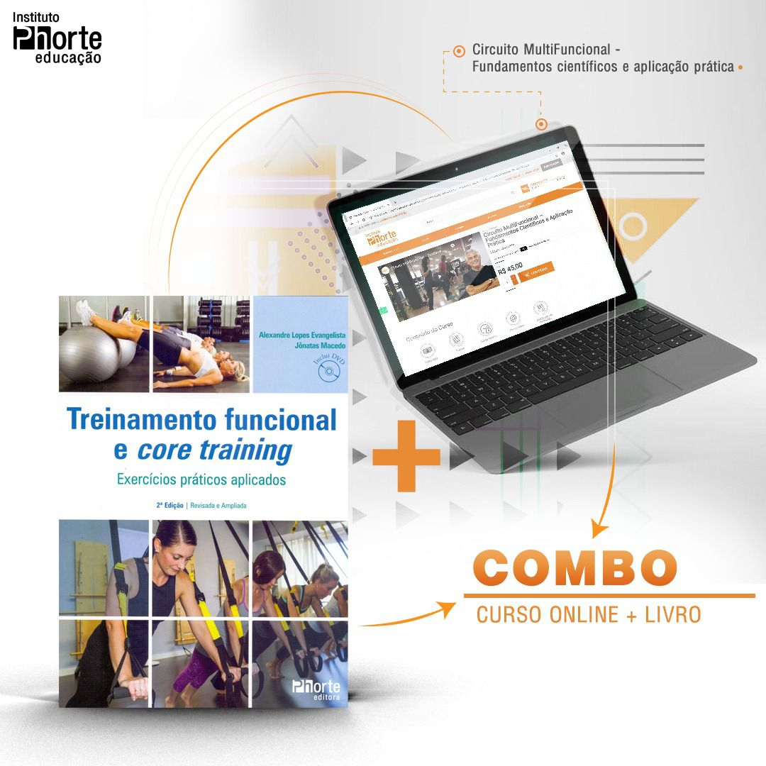 Combo Funcional 2  - Cursos distância e aulas online Instituto Phorte Educação.