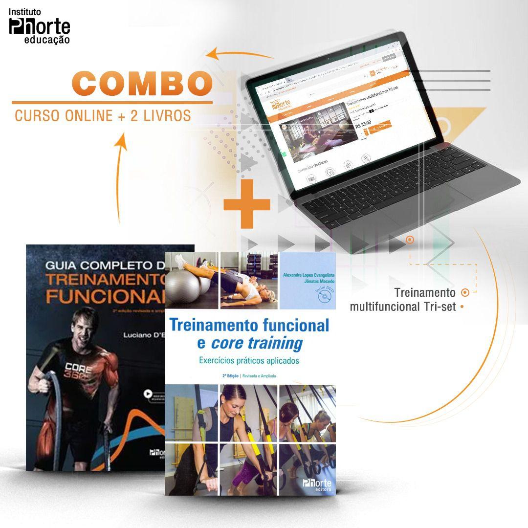Combo Treinamento Funcional  - Cursos distância e aulas online Instituto Phorte Educação.