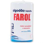 Algodão Hidrofilo Rolo 500g - FAROL