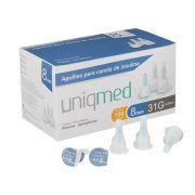 Agulha P/ Caneta de Insulina 31G 8MM Caixa c/ 100 Unidades - UNIQMED