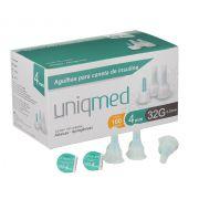 Agulha P/ Caneta de Insulina 32G 4MM Caixa c/ 100 Unidades - UNIQMED