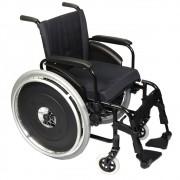 Cadeira de Rodas AVD Alumínio  L44- Preta - ORTOBRAS
