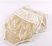 Calça Plástica Simples Fechada Bege 54 - DIAMANTE