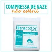Compressa de Gaze Não Estéril 9 fios c/500 - ULTRACOTTON - MINASREY
