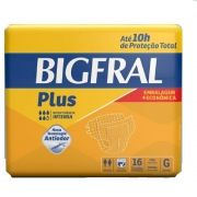 Fralda Plus Geriátrica Econômica G (Pacote c/ 16 Unidades)  - BIGFRAL