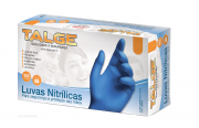 Luva Nitrílica Azul Tamanho M - TALGE
