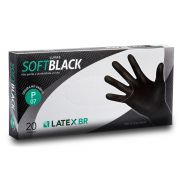 LUVA SOFTBLACK LATEX S/TALCO TAM P CX C/20 UND LATEX BR