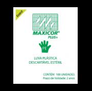Luva Plástica Descartável Estéril Pct c/100 Unid - MAXICOR