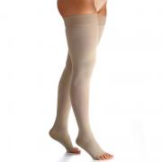 Meia de Compressão Select Comfort Premium Meia Coxa Pont. Aberta 20-30mmHg Unissex Natural Longa P3 - SIGVARIS