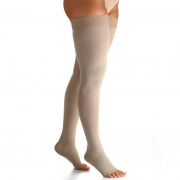Meia de Compressão Select Comfort Premium Meia Coxa Pont. Aberta 20-30mmHg Unissex Natural Normal G2 - SIGVARIS