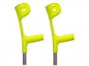Muleta Canadense Fixa 110 Kg Amarela (Par) - SEQUENCIAL