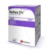 Riohex 2% (2% de Digliconato de Clorexidina com Tensoativos) 800mL Refil Caixa c/ 6 Unidades  - RIOQUÍMICA