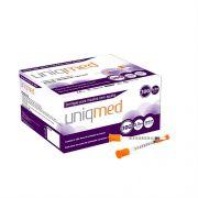 Seringa Insulina 0,3 ml - Agulha 8mm x 0,30mm (Pacote c/ 10 Unidades) - UNIQMED