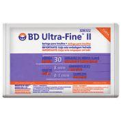 Seringa Insulina 30U - Agulha 8mm x 0,3mm Ultra-Fine (Pacote c/ 10 unidades) - BD