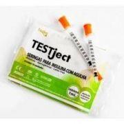 Seringa Insulina 0,5ml - Agulha 8mm x 0,3mm (Pacote c/ 10 unidades) - TESTJECT