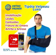 Tipoia Velpeau Luxo Fashion Pauher - PP - Bilateral - AC420 - Preta