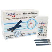 Tira de Glicemia c/ 50 Unidades - TESTLINE