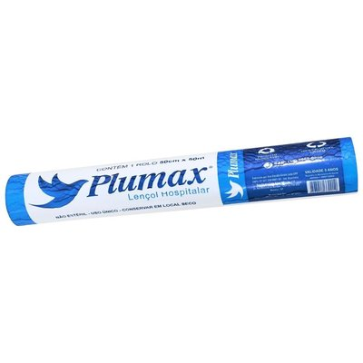 Lençol de Papel Hospitalar Branco 70 x 50 - PLUMAX